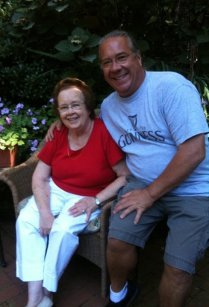 Chris & his Mother, Jeanne. She taught him everything he knows about cooking!
